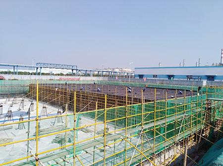 陕煤建设天工公司土建六部高质量推进蒲城清洁能源生产缓冲池工程树形象