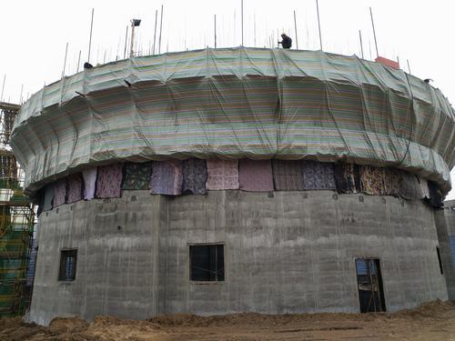陕煤建设韩城公司土建五项目部大干快上抢工期滑模施工节节高